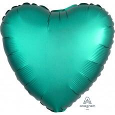 Green Satin Luxe Jade Standard HX Shaped Balloon