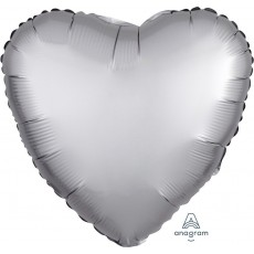 Silver Satin Luxe Platinum Standard HX Shaped Balloon