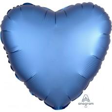 Blue Satin Luxe Azure Standard HX Shaped Balloon