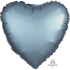 Blue Satin Luxe Steel Standard HX Shaped Balloon