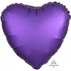 Purple Satin Luxe Royale Standard HX Shaped Balloon