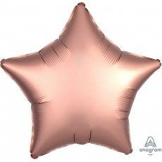 Pink Satin Luxe Rose Copper Standard XL Shaped Balloon