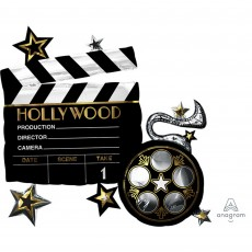 Hollywood Lights! Camera! Action! SuperShape Shaped Balloon 76cm x 73cm