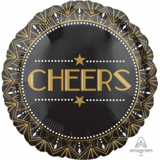 Round Hollywood Lights! Camera! Action! Standard HX Cheers Foil Balloon 45cm