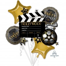 Hollywood Lights! Camera! Action! Bouquet Foil Balloons Pack of 5