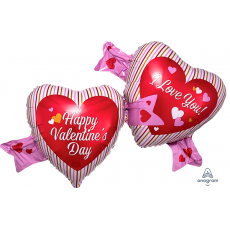 Valentine's Day SuperShape XL Double Hearts Shaped Balloon