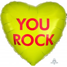 Heart Misc Occasion Standard You Rock Shaped Balloon 45cm