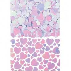 Iridescent Hearts Confetti