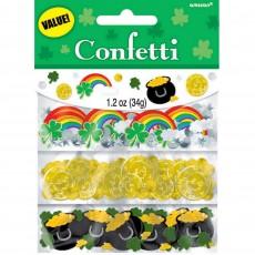 St Patrick's day Shamrock Value Confetti 34g