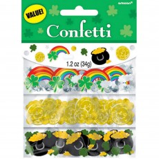 St Patrick's day Shamrock Value Confetti