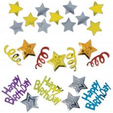Happy Birthday Stars Confetti