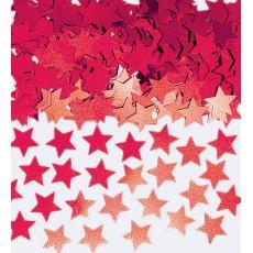 Red Mini Stars Confetti 7g