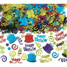 Happy Birthday Embossed Type Confetti