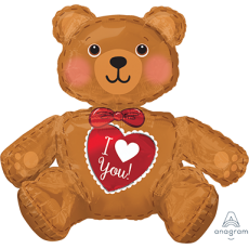 Love CI: Large Sitting Bear Shaped Balloon