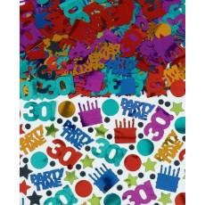 30th Birthday Dots & Stripes Confetti