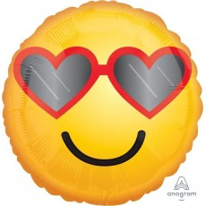 Emoji Heart Glasses Foil Balloon