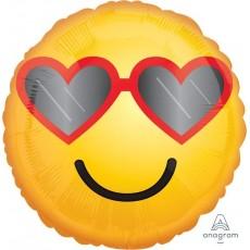 Emoji Standard HX Heart Glasses Emoticon Foil Balloon