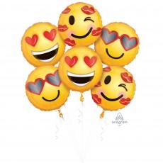 Emoji Bouquet Emoticon Love Foil Balloons