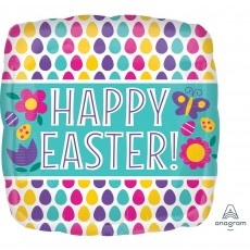 Easter Standard Egg Pattern Shaped Balloon