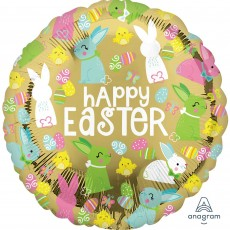 Easter Standard HX Gold Foil Balloon