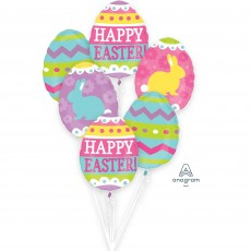 Egg Hunt Bouquet Happy Easter! Foil Balloons Pack of 6