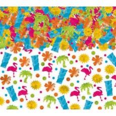 Hawaiian Party Decorations Tiki Flamingo Sun Flower Palm Tree Confetti