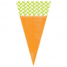 Easter Carrot Shaped Cello Treat Favour Bags 28cm x 15.2cm Pack of 15