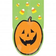 Halloween Large Pumpkin Cello Favour Bags