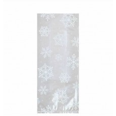 Christmas Clear & White Large Snowflakes Favour Bags