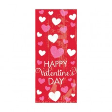 Red Small Cello Happy Valentine's Day Favour Bags 10cm x 24cm Pack of 20