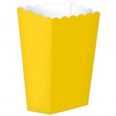 Sunshine Yellow Small Popcorn Favour Boxes 13cm x 9.5cm Pack of 5