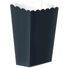 Jet Black Small Popcorn Favour Boxes 13cm x 9.5cm Pack of 5