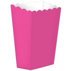 Bright Pink Popcorn Favour Boxes 13cm x 9.5cm Pack of 5