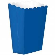 Bright Royal Blue Small Popcorn Favour Boxes 13cm x 9.5cm Pack of 5