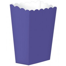 New Purple Small Popcorn Favour Boxes 13cm x 9.5cm Pack of 5