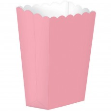 New Pink Popcorn Favour Boxes 13cm x 9.5cm Pack of 5