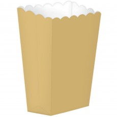 Gold Small Popcorn Favour Boxes 13cm x 9.5cm Pack of 5