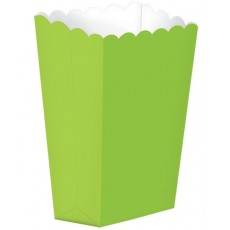 Kiwi Green Small Popcorn Favour Boxes 13cm x 9.5cm Pack of 5