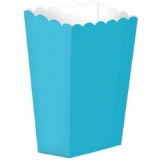 Caribbean Blue Small Popcorn Favour Boxes 13cm x 9.5cm Pack of 5