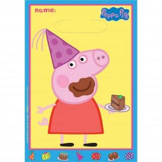 Peppa Pig Folded Loot Bags Favour Bags