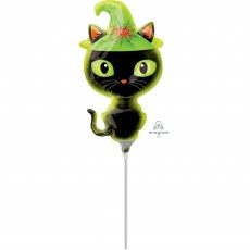 Halloween Mini Black Kitty Cat Shaped Balloon