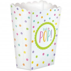 Baby Shower - General Neutral Popcorn Paper Favour Boxes