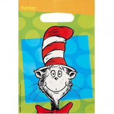 Dr Seuss Folded Loot Favour Bags Pack of 8