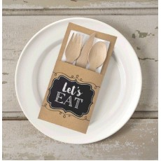 Kraft Paper Cutlery Holder Misc Accessories