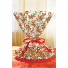 Christmas Gingerbread Men Cookie Tray Cello Favour Bags