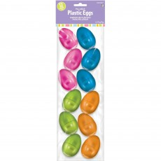 Small Metallic Easter Eggs Plastic Favours 5.7cm Pack of 12