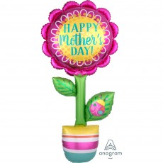Flower Giant Multi-Balloon Happy Mother's Day! Shaped Balloon