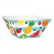Hawaiian Party Decorations Fruit Print Bowls