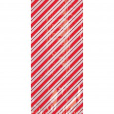 Christmas Party Supplies - Favour Bags Candy Cane Stripes L Cello Loot