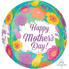 Orbz XL Tropical Flowers Happy Mother's Day! Shaped Balloon